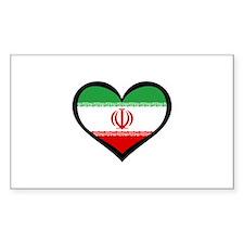 Persian Love Iran Rectangle Decal