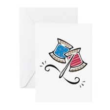 Cute Needle & Thread Design Greeting Cards (Pk of