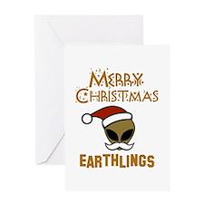 Merry Christmas Earthlings Greeting Card