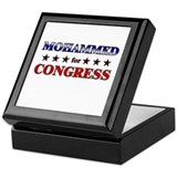 MOHAMMED for congress Keepsake Box