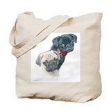 Two Pugs Tote Bag