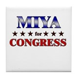 MIYA for congress Tile Coaster