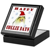 Happy Collie Days Christmas Keepsake Box