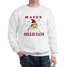 Happy Collie Days Christmas Sweatshirt
