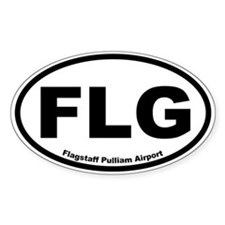 Flagstaff Pulliam Airport Oval Decal
