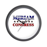 MIRIAM for congress Wall Clock