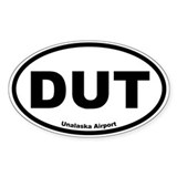 Unalaska Airport Oval Decal