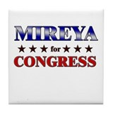 MIREYA for congress Tile Coaster