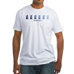 Workout (blue variation) Fitted T-Shirt