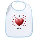 I Love Gia - Bib