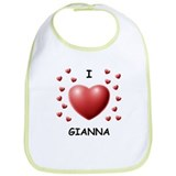 I Love Gianna - Bib