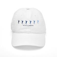 Rock Climbing (blue variation Baseball Cap