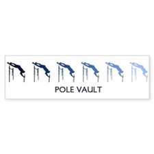 Pole Vault (blue variation) Bumper Bumper Sticker
