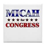 MICAH for congress Tile Coaster