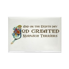 God Created Norwichs Rectangle Magnet