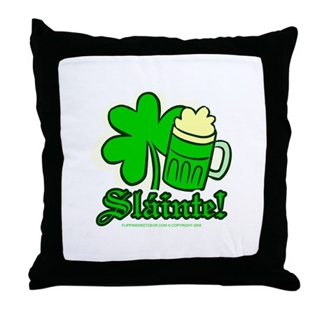 Sl�inte! Throw Pillow