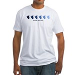 Inline Skating (blue variatio Fitted T-Shirt