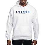 Inline Skating (blue variatio Hooded Sweatshirt