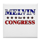 MELVIN for congress Tile Coaster