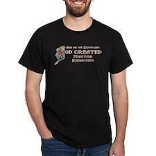 God Created Schnauzers T-Shirt