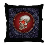 Necromancy Throw Pillow (Marble)