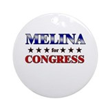 MELINA for congress Ornament (Round)