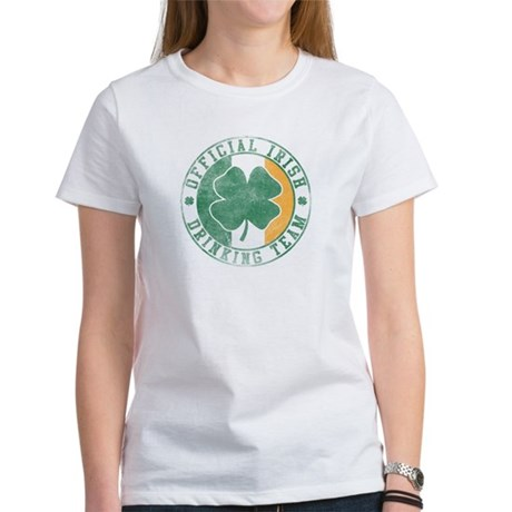 Official Irish Drinking Team Womens T-Shirt