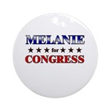 MELANIE for congress Ornament (Round)