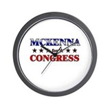 MCKENNA for congress Wall Clock