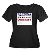 MAYRA for congress Women's Plus Size Scoop Neck Da