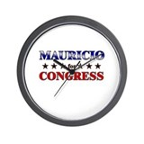 MAURICIO for congress Wall Clock