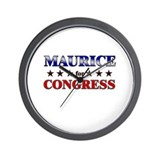 MAURICE for congress Wall Clock