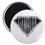 "SuperGambler(metal) 2.25"" Magnet (10 pack)"