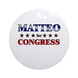 MATTEO for congress Ornament (Round)