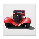 Helaine's Hot Rod Tile Coaster