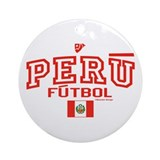 Peru Futbol/Soccer Ornament (Round)