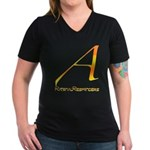 Out Campaign Women's V-Neck Dark T-Shirt