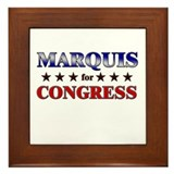 MARQUIS for congress Framed Tile