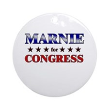MARNIE for congress Ornament (Round)