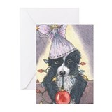 Border collie holiday cards Greeting Cards (10 Pack)