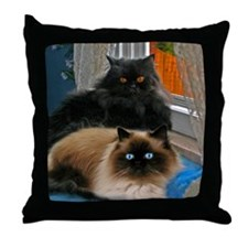 BLACK PERSIAN AND HIMALAYAN THROW PILLOW
