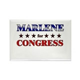 MARLENE for congress Rectangle Magnet