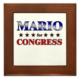 MARIO for congress Framed Tile