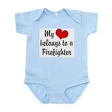 My Heart Belongs to a Firefig Infant Bodysuit