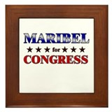 MARIBEL for congress Framed Tile