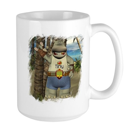 Heath Hippo Paradise Island Large Mug