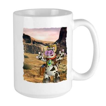 Billy Bull On the Range Large Mug