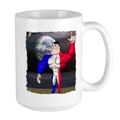 Alpha Man In Space Large Mug