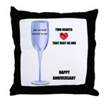 HAPPY ANNIVERSARY Throw Pillow