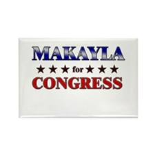 MAKAYLA for congress Rectangle Magnet (10 pack)